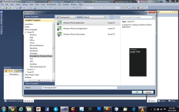 Windows Phone 7 Application Tutorial – Hrushikesh Zadgaonkar
